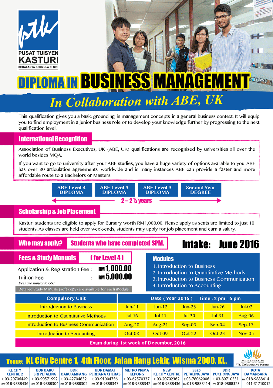 PTK Business Management Diploma